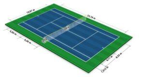 dien tich xay dung san tennis