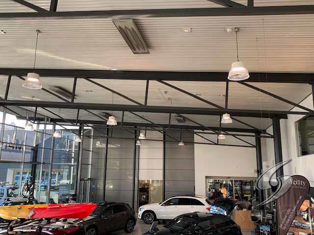 Hệ thống chiếu sáng showroom trưng bày xe hơi