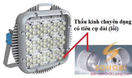 Đèn chiếu sáng sân tennis dùng ở các sân thi đấu chuyên nghiệp